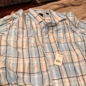 Men short sleeve dress shirt